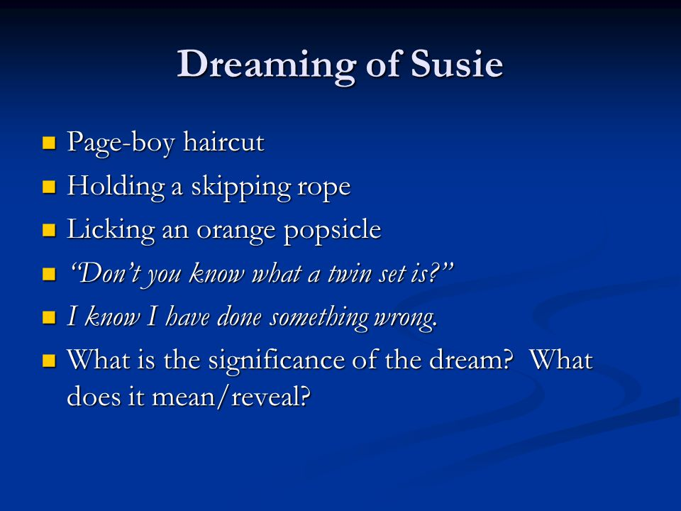 Dreaming of Susie Page-boy haircut Holding a skipping rope