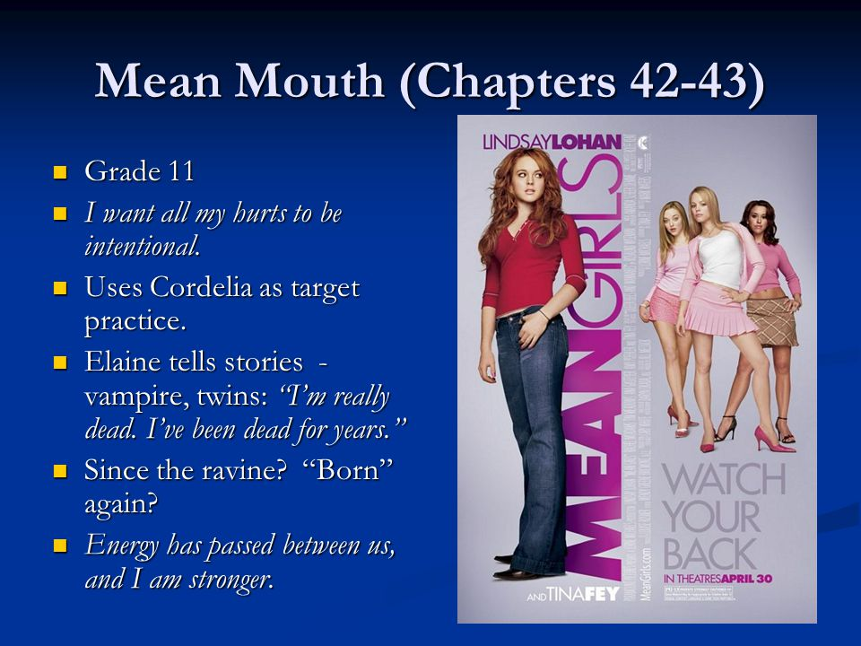 Mean Mouth (Chapters 42-43)