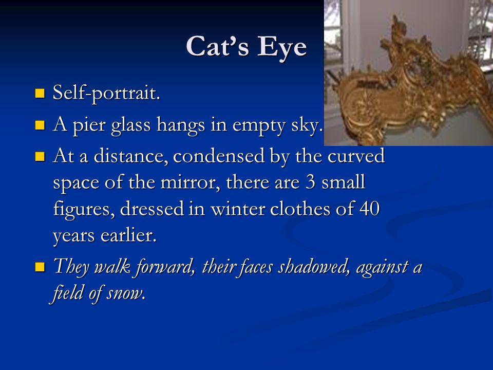 Cat's Eye Self-portrait. A pier glass hangs in empty sky.