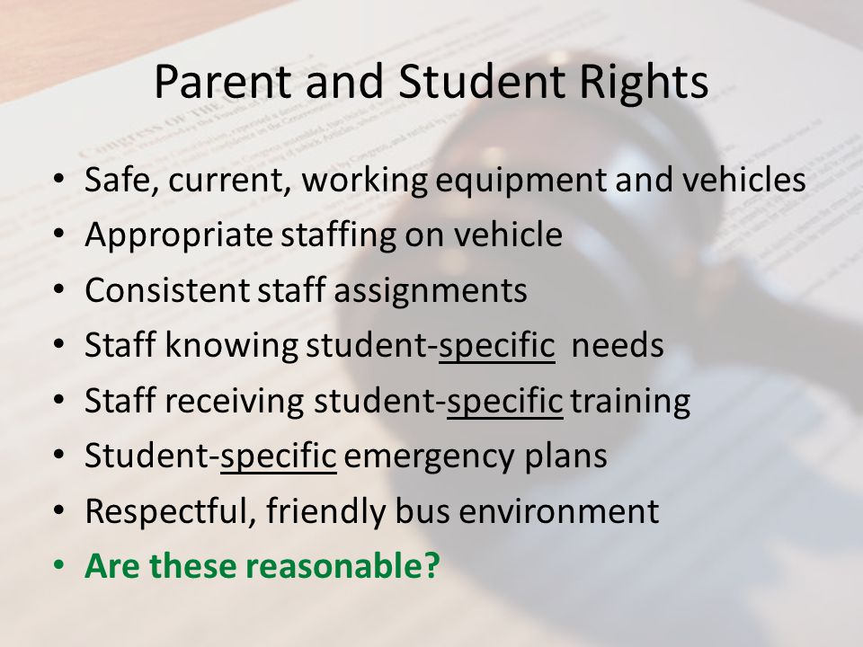 Parent and Student Rights