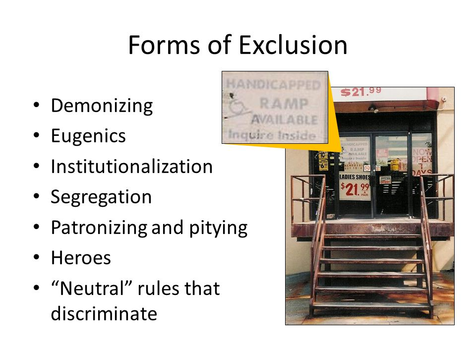 Forms of Exclusion Demonizing Eugenics Institutionalization