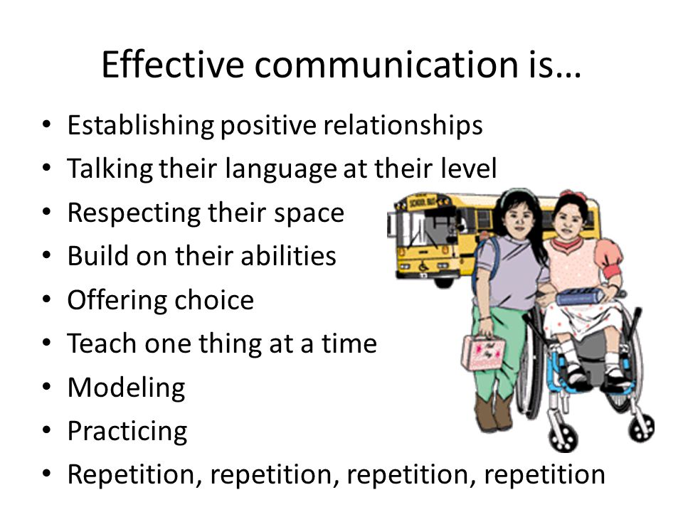 Effective communication is…