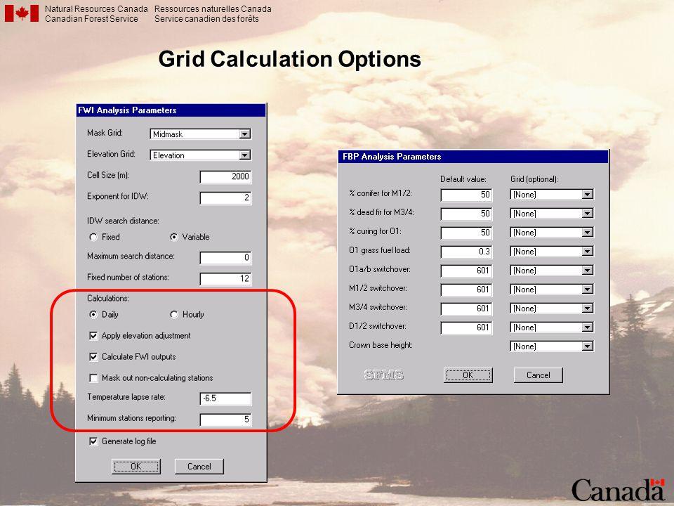 Grid Calculation Options