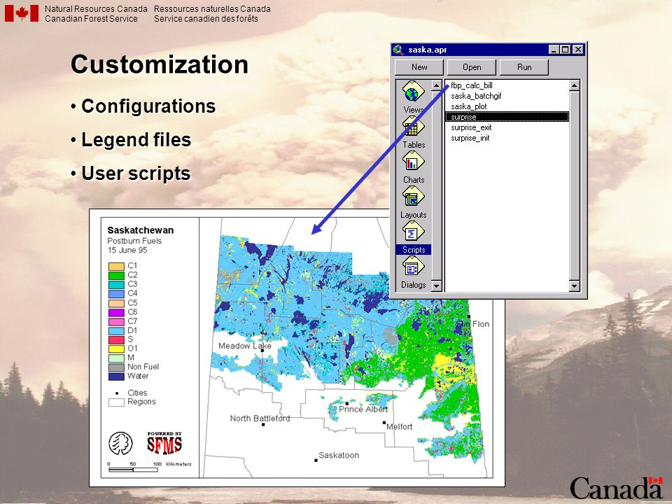 Customization Configurations Legend files User scripts Customization