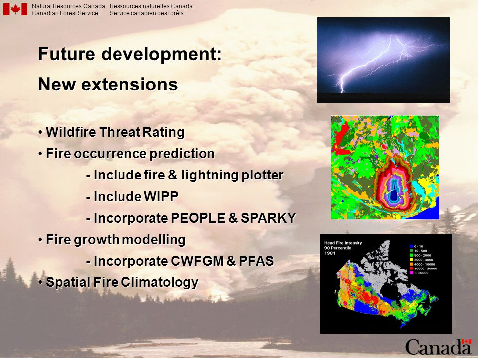 Future development: New extensions Wildfire Threat Rating