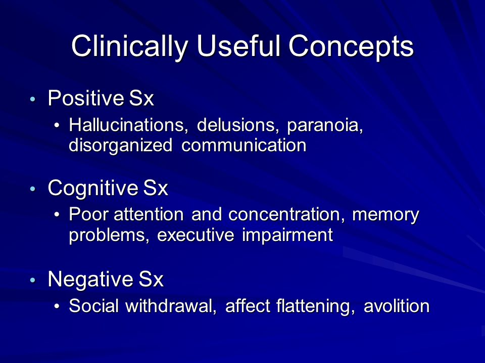 Clinically Useful Concepts
