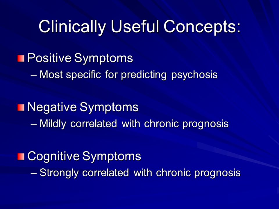 Clinically Useful Concepts: