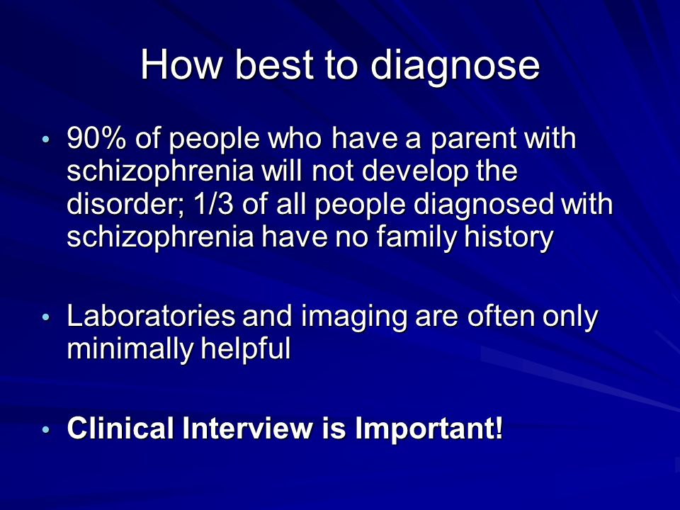 How best to diagnose