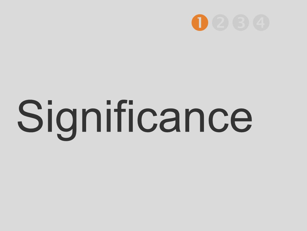  Significance