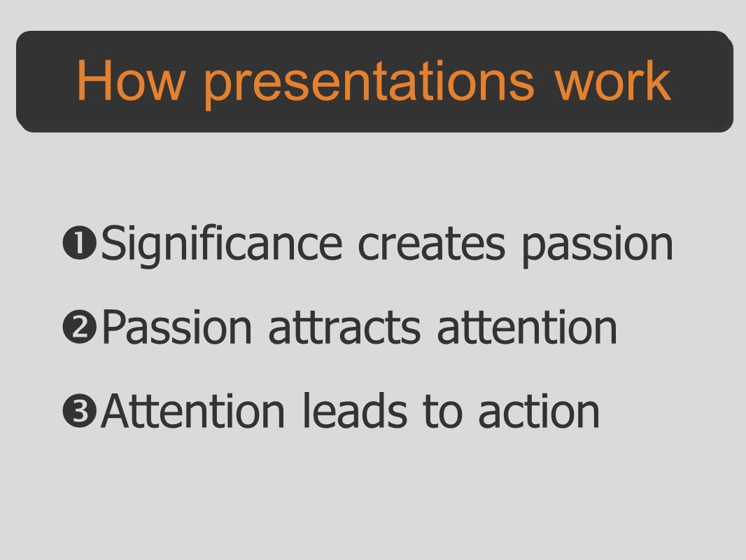 How presentations work