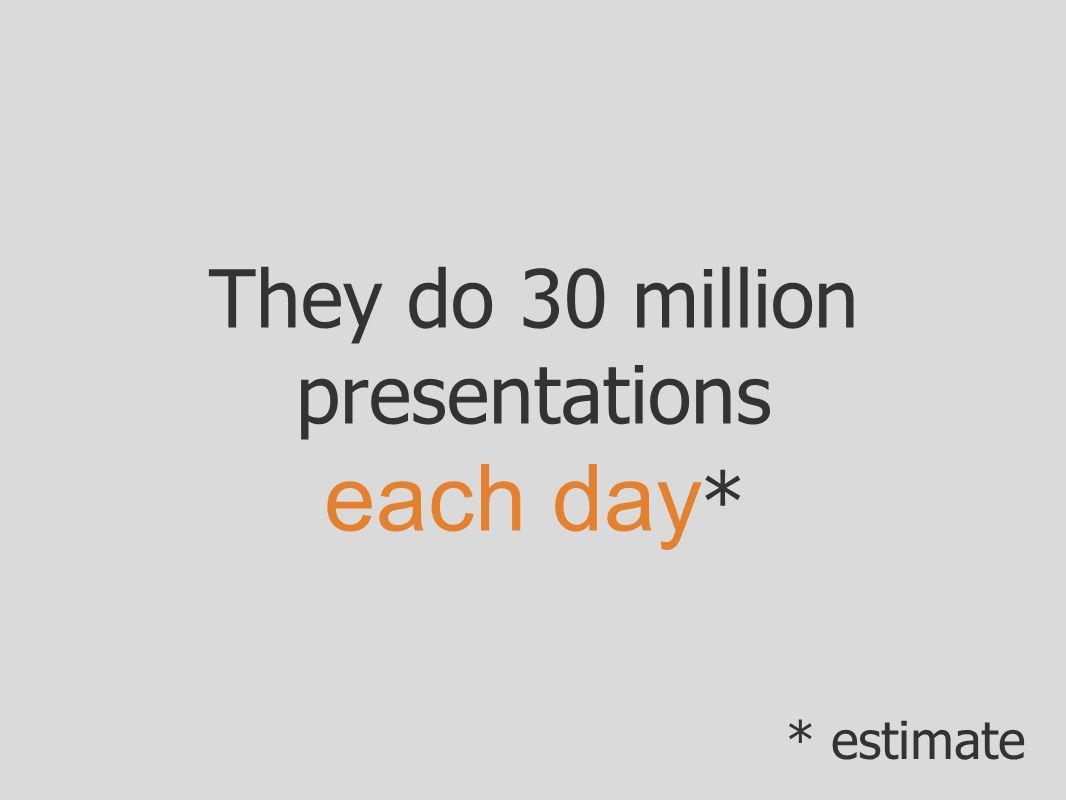 They do 30 million presentations each day*