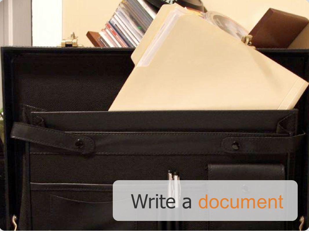 Write a document