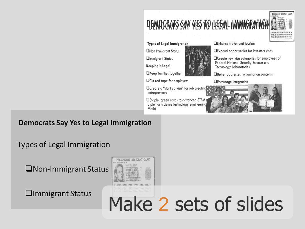 Make 2 sets of slides
