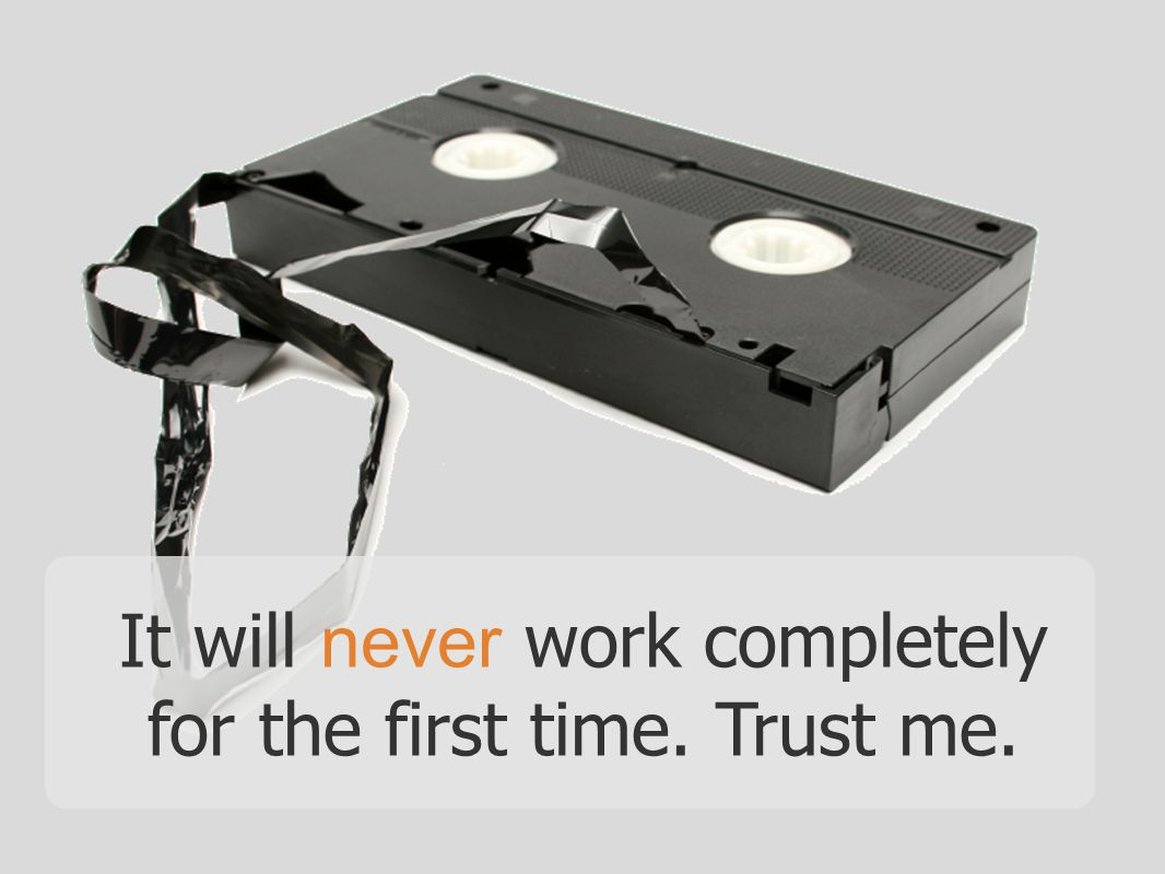 It will never work completely for the first time. Trust me.