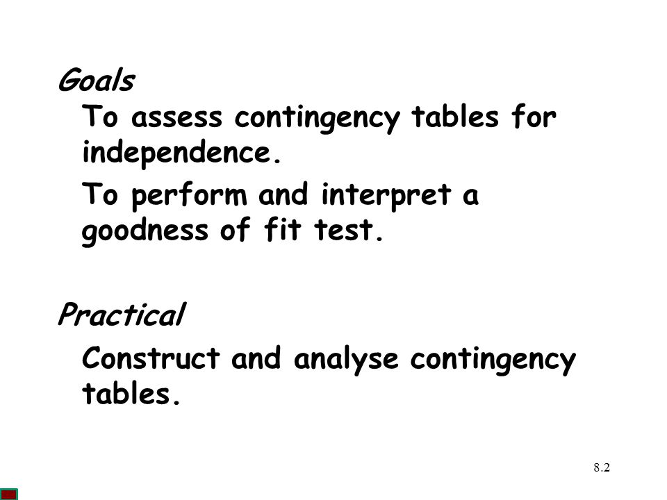 To assess contingency tables for independence.