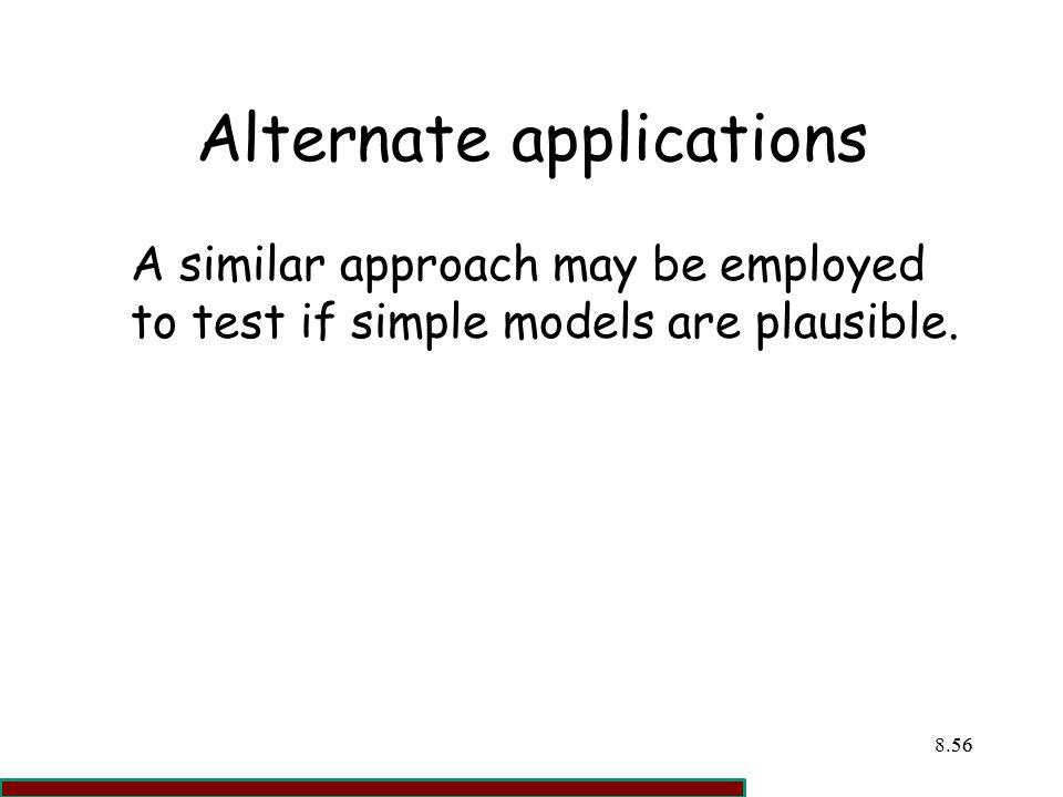 Alternate applications
