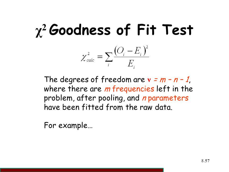 χ2 Goodness of Fit Test