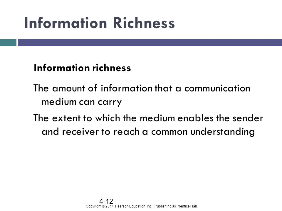 Information Richness