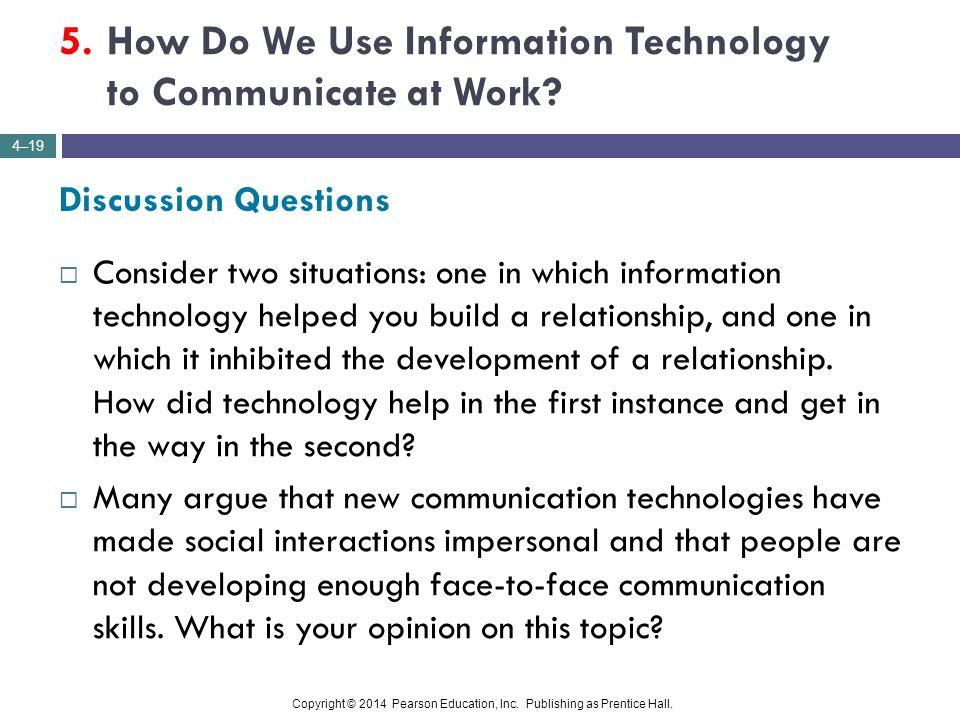 5. How Do We Use Information Technology to Communicate at Work