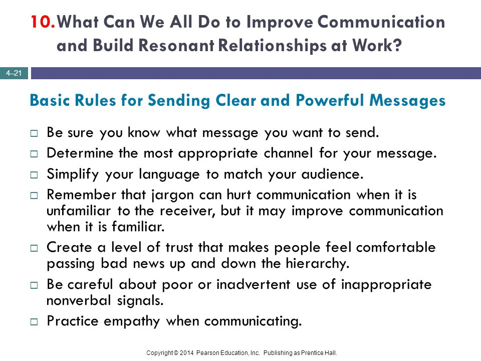 10. What Can We All Do to Improve Communication and Build Resonant Relationships at Work