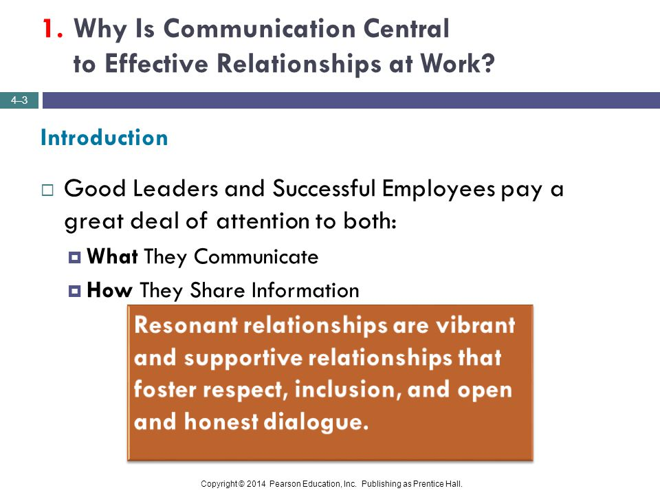 1. Why Is Communication Central to Effective Relationships at Work