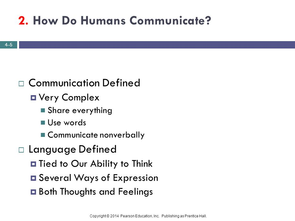 2. How Do Humans Communicate