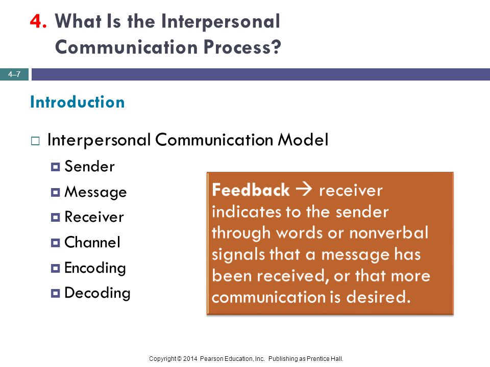 4. What Is the Interpersonal Communication Process