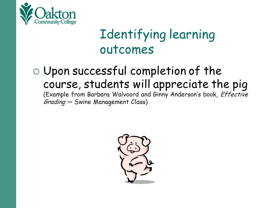 Identifying learning outcomes