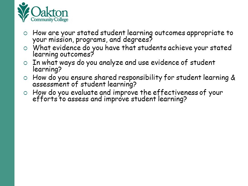 How are your stated student learning outcomes appropriate to your mission, programs, and degrees