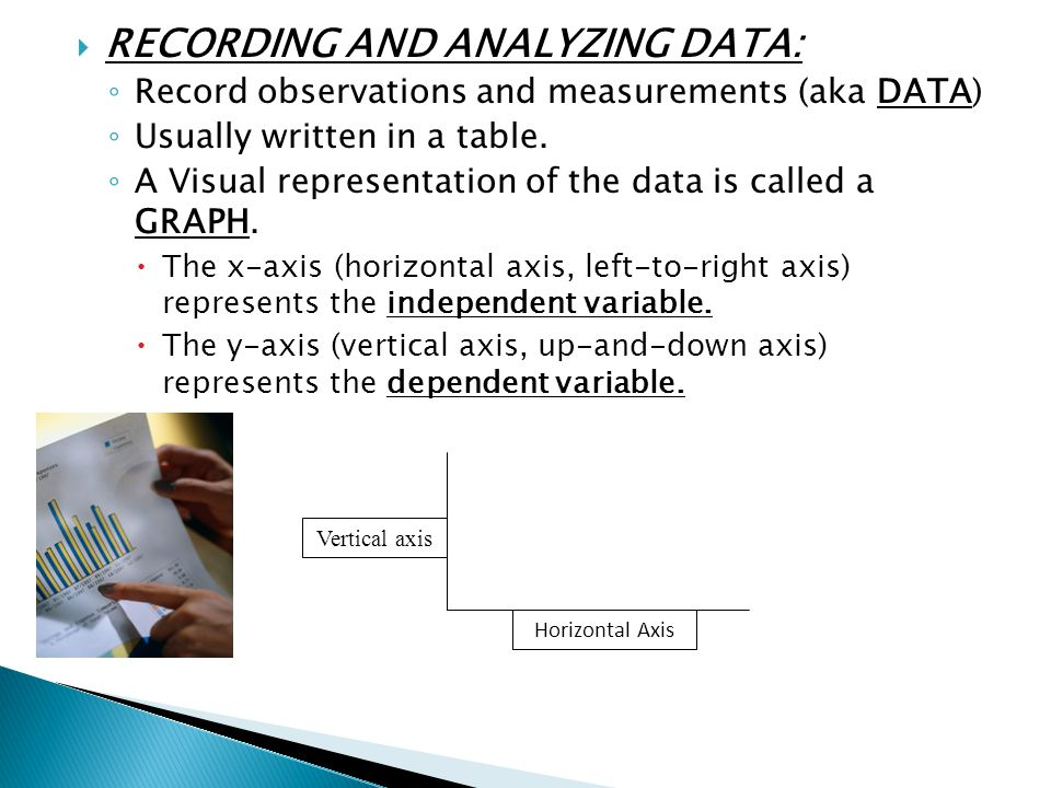 RECORDING AND ANALYZING DATA: