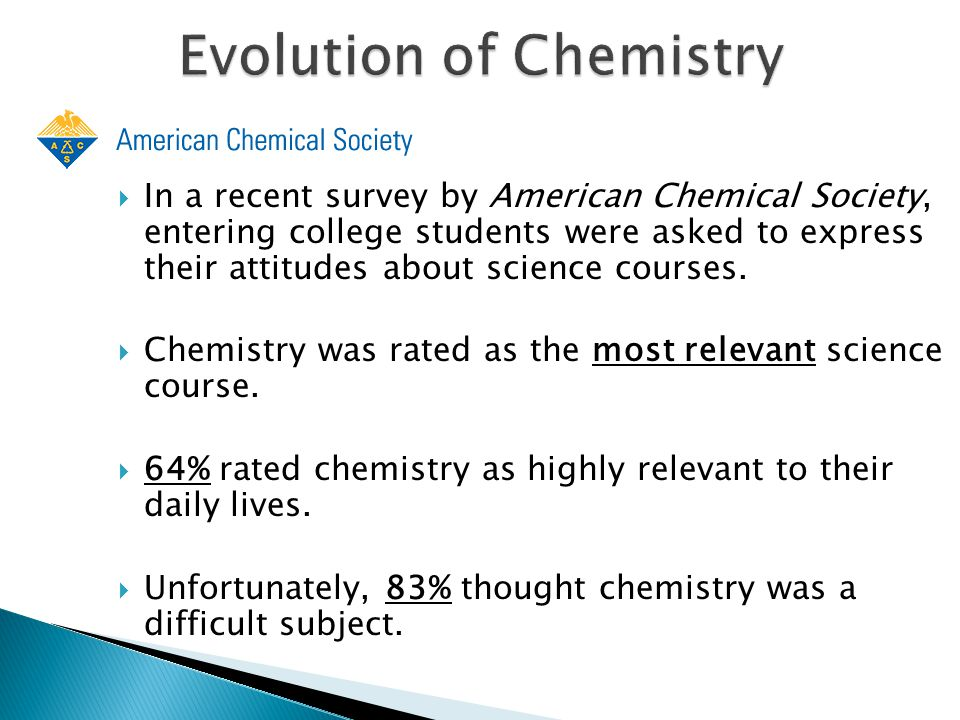 Evolution of Chemistry