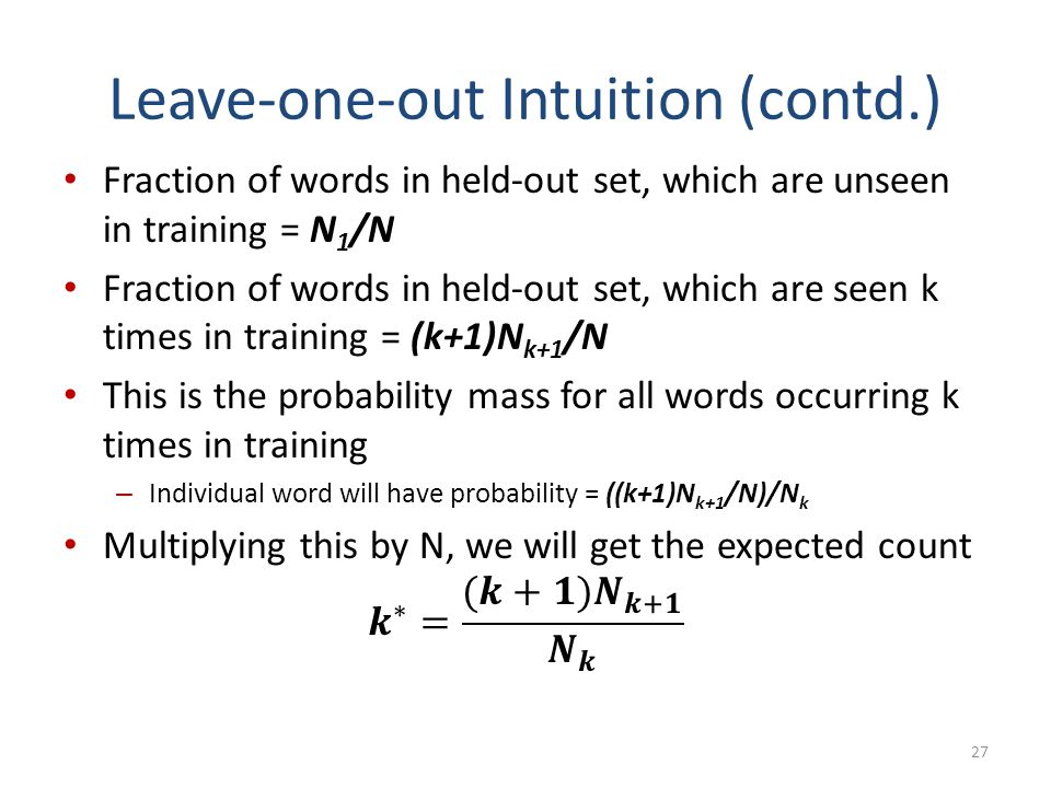 Leave-one-out Intuition (contd.)