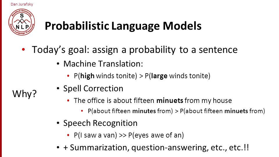 Probabilistic Language Models