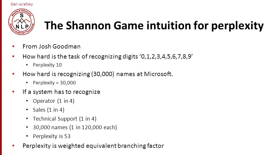 The Shannon Game intuition for perplexity
