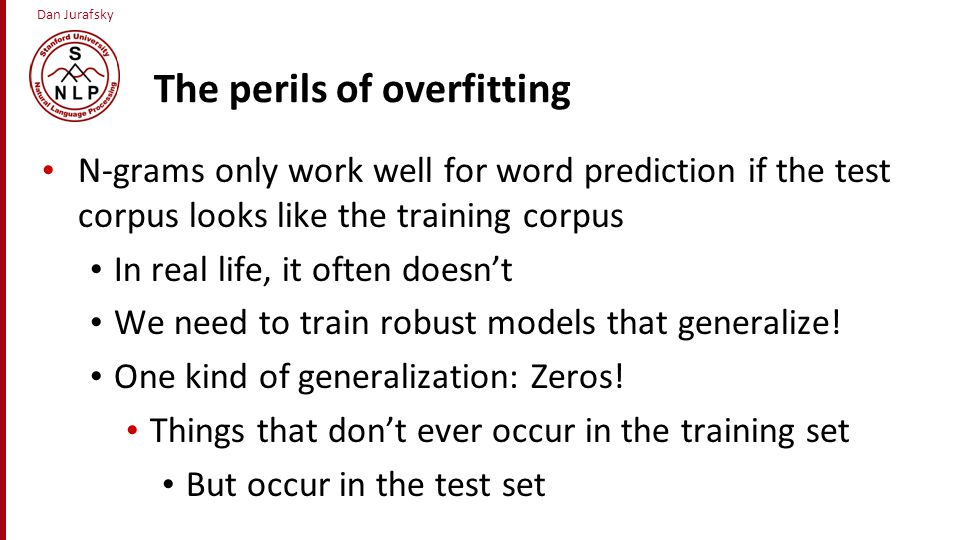 The perils of overfitting