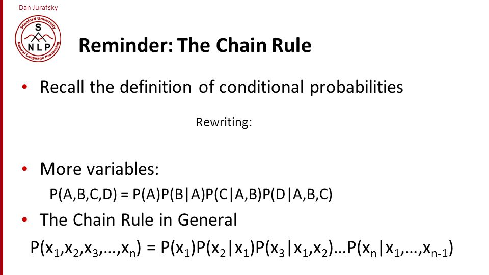 Reminder: The Chain Rule