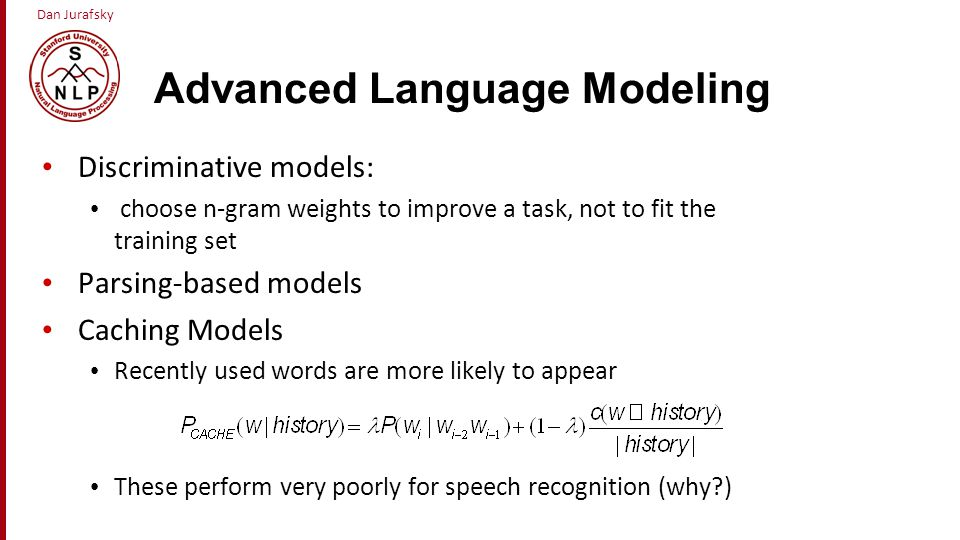 Advanced Language Modeling