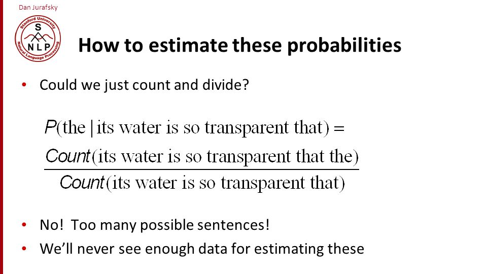 How to estimate these probabilities
