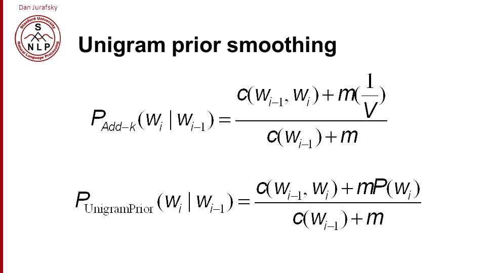 Unigram prior smoothing
