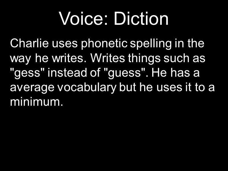 Voice: Diction