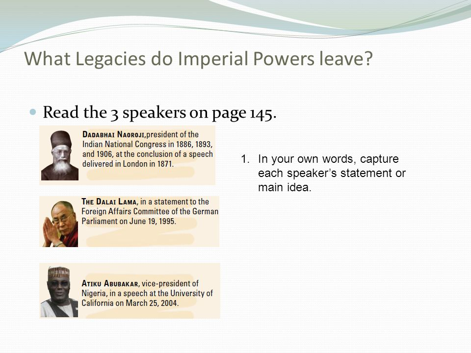 What Legacies do Imperial Powers leave