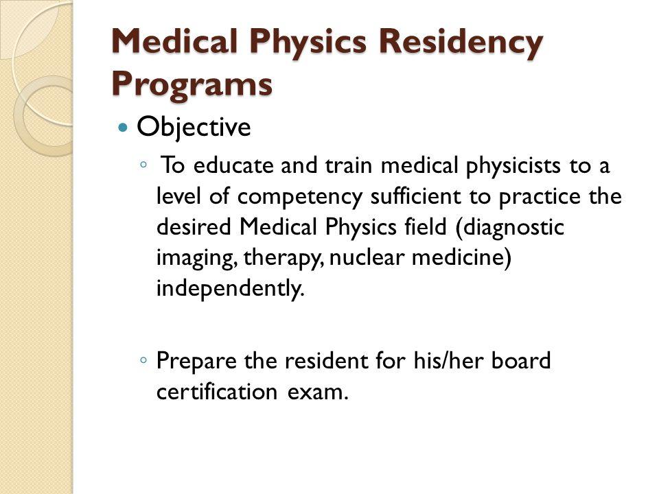 Medical Physics Residency Programs