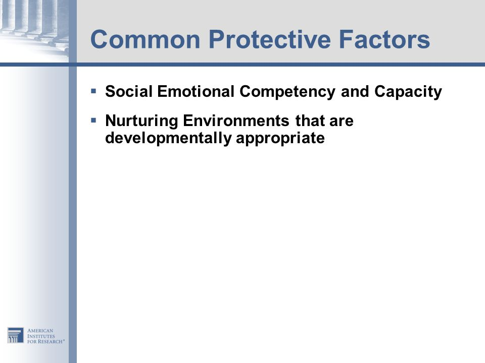 Common Protective Factors