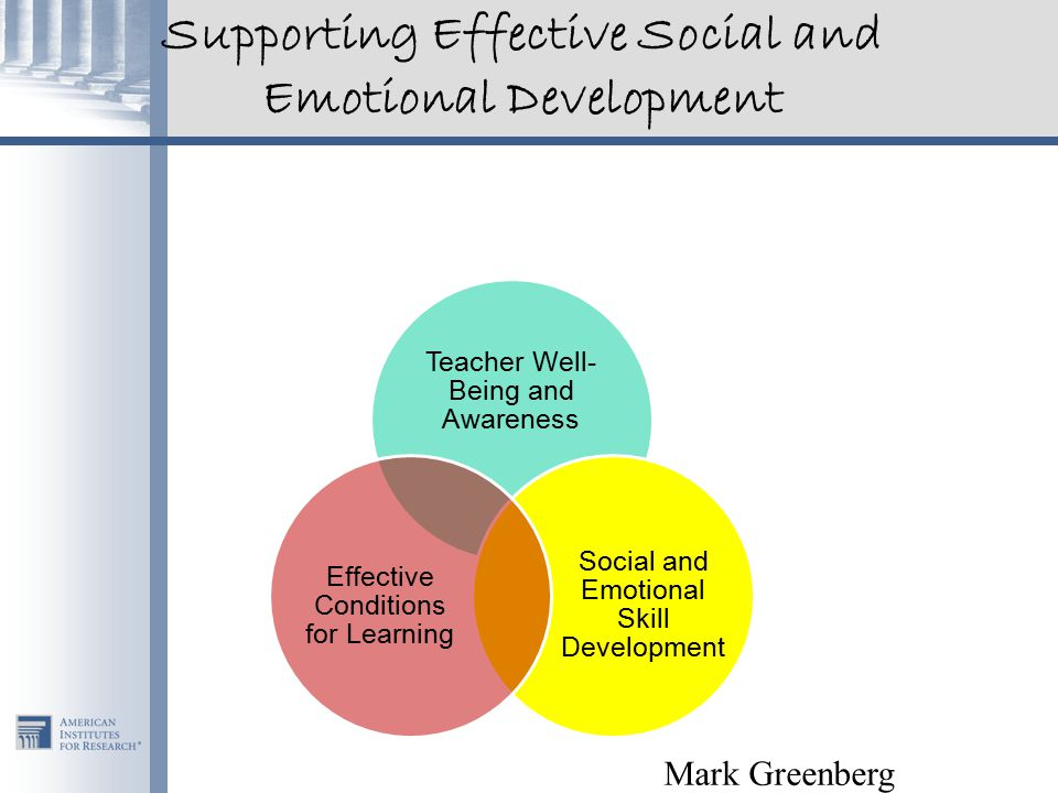 Supporting Effective Social and Emotional Development