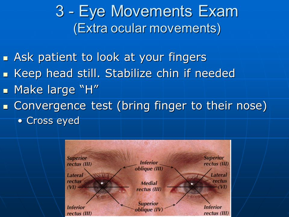 3 - Eye Movements Exam (Extra ocular movements)