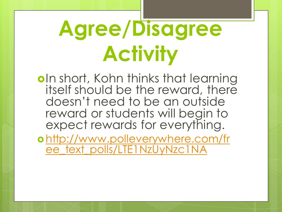 Agree/Disagree Activity