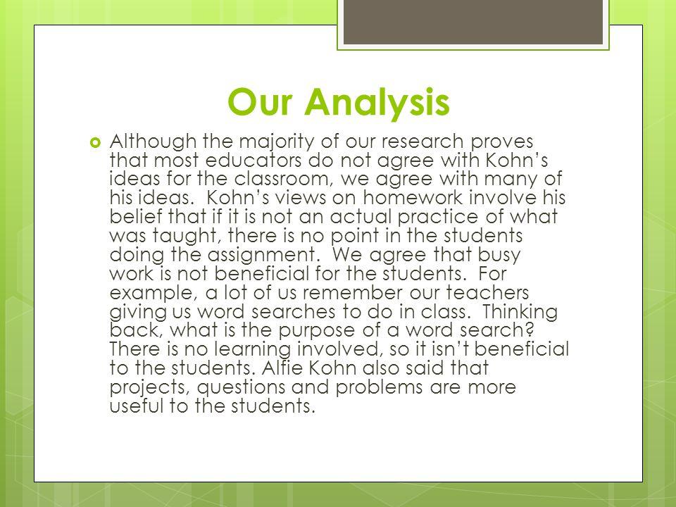 Our Analysis