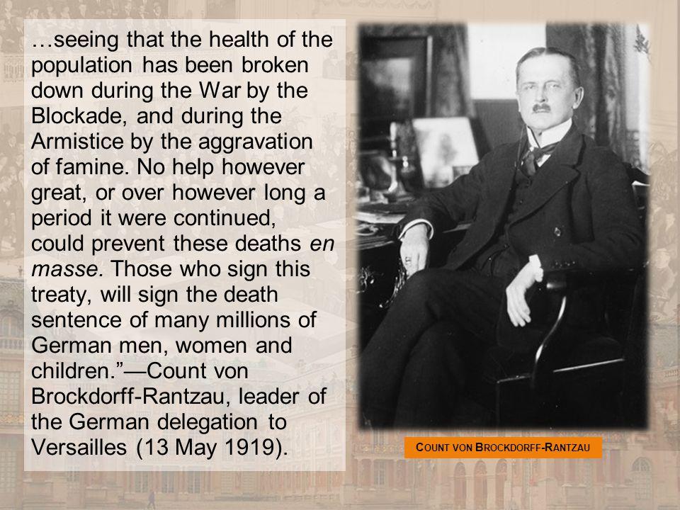 Count von Brockdorff-Rantzau