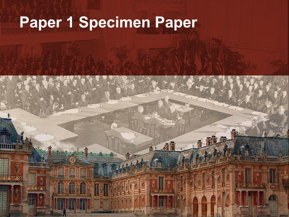 Paper 1 Specimen Paper