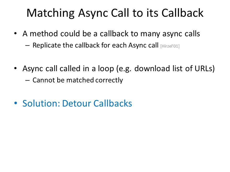 Matching Async Call to its Callback